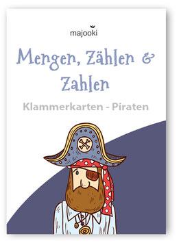 Mengen, Zählen, Zahlen ZR10 - Klammerkarten Menge-Zahl - Piraten