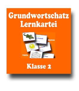 Grundwortschatz Klasse 2 - Lernkartei