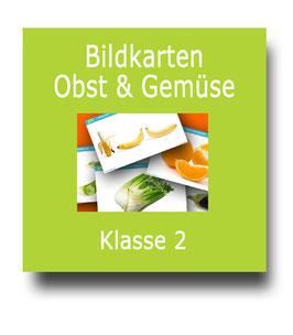 Bildkarten Obst und Gemüse - fächerübergreifende Förderung