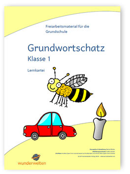 Nomen Grundwortschatz Klasse 1 - Übungskartei