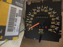 n°c8 compteur vitesse milles MPH renault r21 7701032489