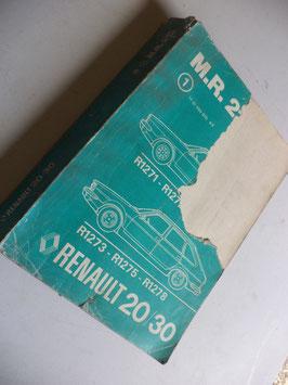 n°rn43 catalogue renault r20 r30 mr212