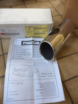 n°ma87 embout echappement mazda 3 bs4dv4250