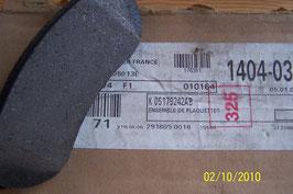 n°68 Plaquettes de frein arrière cherokee 5179242ab 2005/2007