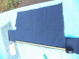 n°e435 tissu etoffe bleu mercedes w123 0029830782
