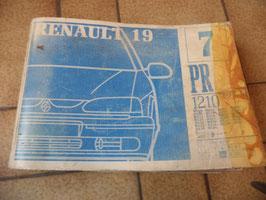 n°rn71 catalogue pieces detachées renault r19 pr1210-7