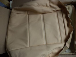 n°d54 coiffes cuir beige mitsubishi pajero