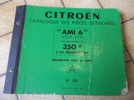 n°h252 catalogue pieces citroen ami 6 1961 1965 n°486