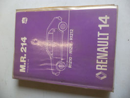 n°rn49 catalogue renault r14 mr214