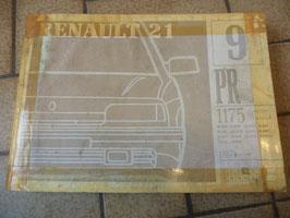 n°rn70 catalogue pieces detachées renault r21 pr1175-9