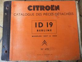 n°h107 catalogue pieces citroen id 19 1957 a 1960 n°470