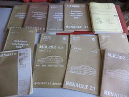 n°rn39 lot catalogue renault r21 mr291 mr292