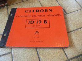 n°h248 catalogue pieces citroen id 19 b n°528 1996