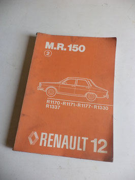 n°rn48 catalogue renault r12 mr150