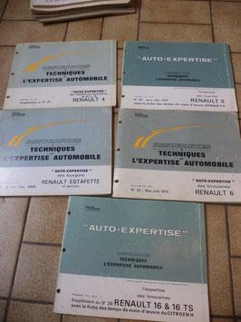 n°rn54 revues auto expertise renault r4 r5 r6 r16 estafette