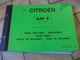 n°h132 catalogue pieces citroen ami 8 n°566