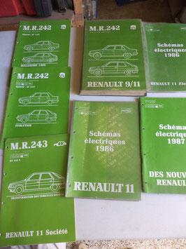 n°rn34 lot catalogue renault r11 r9 mr242 mr243