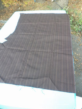 n°e430 tissu etoffe marron mercedes w124 0029831582