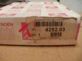 n°79 jeu plaquettes xsara 206 306 425203
