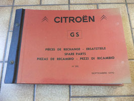n°h128 catalogue pieces  citroen gs n°590
