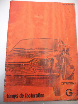 n°h103 temps facturation citroen gs 1981