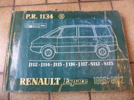 n°rn59 catalogue pieces detachées renault espace 1 pr1134