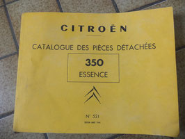 n°h100 catalogue piece citroen 350 essence n°521