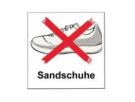 Sandschuh - Verbotsschild