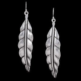 Boucles d'oreilles en argent feuilles 74