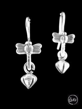 Boucles d'oreilles en argent libellules 08