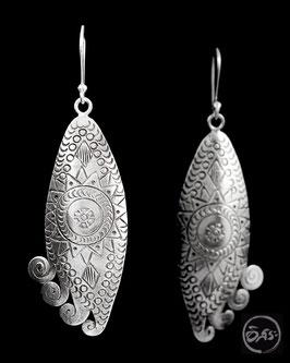 Boucles d'oreilles en argent ethniques 24