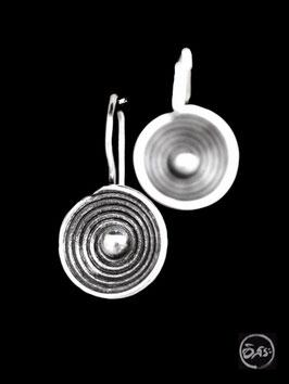 Boucles d'oreilles en argent spirales 40