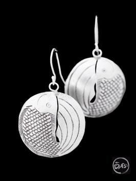 Boucles d'oreilles en argent poissons 17