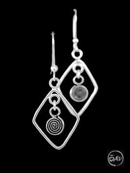 Boucles d'oreilles en argent spirales 10