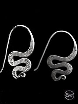 Boucles d'oreilles en argent nature 02
