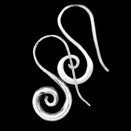 Boucles d'oreilles en argent spirales 21