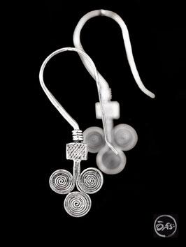 Boucles d'oreilles en argent spirales 23
