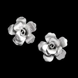 Boucles d'oreilles en argent fleurs 08