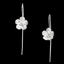 Boucles d'oreilles en argent fleurs 05