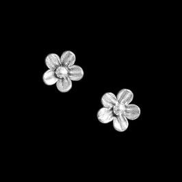 Boucles d'oreilles en argent fleurs 07