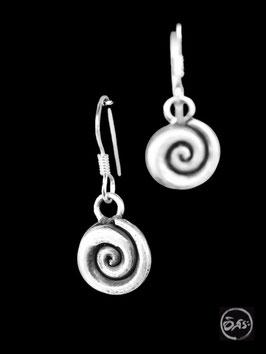 Boucles d'oreilles en argent spirales 05
