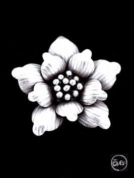 Bague en argent fleur 35