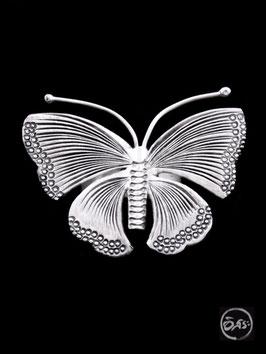 Bague en argent papillon 44