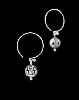 Boucles d'oreilles en argent ethniques 87