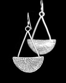 Boucles d'oreilles en argent ethniques 52