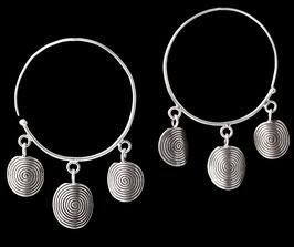 Boucles d'oreilles en argent spirales 51