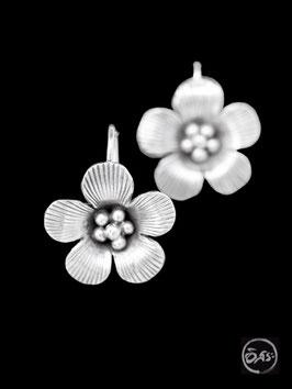 Boucles d'oreilles en argent fleurs 12