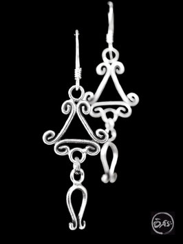 Boucles d'oreilles en argent spirales 41