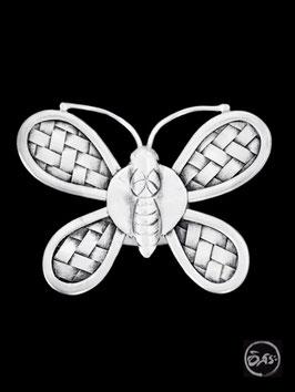 Bague en argent papillon 16