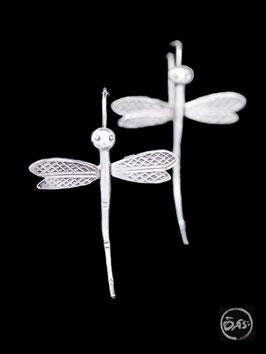 Boucles d'oreilles en argent libellules 20